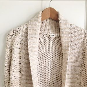 Gap Oversized Cable Knit Cardigan